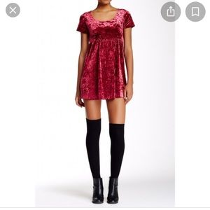 American Apparel red wine, M,crushed velvet mini.